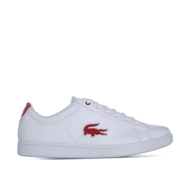 Boty Lacoste Junior Carnaby Evo Trainers White red
