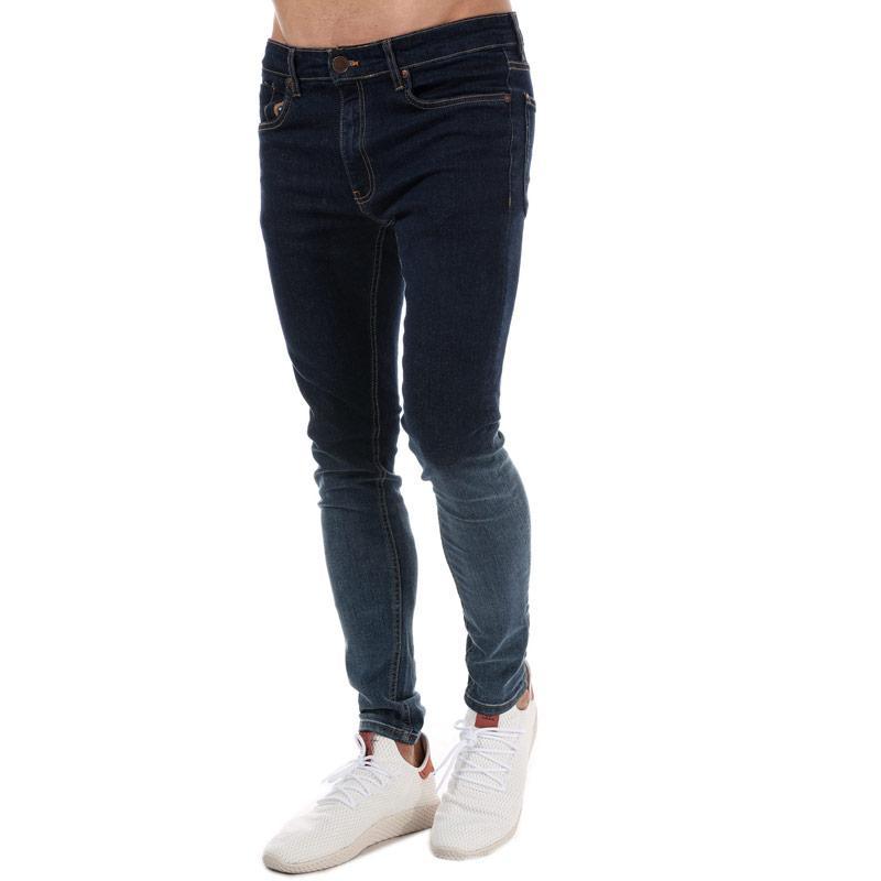 Ringspun Mens Chinook Ombre Skinny Jeans Denim