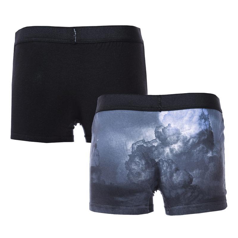 Spodní prádlo Religion Mens Deer Head 2 Pack Boxer Shorts Black
