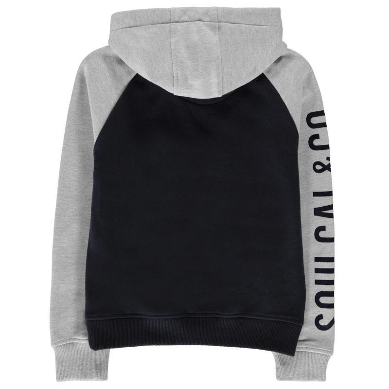 Mikina SoulCal USA Raglan OTH Hoodie Junior Boys Navy/Grey M