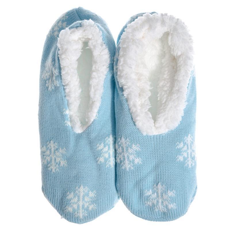 Brave Soul Womens Snowflake Slipper Socks Blue