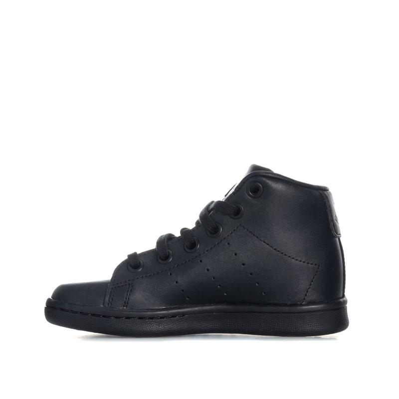 Boty Adidas Originals Children Boys Stan Smith Mid Trainers Black
