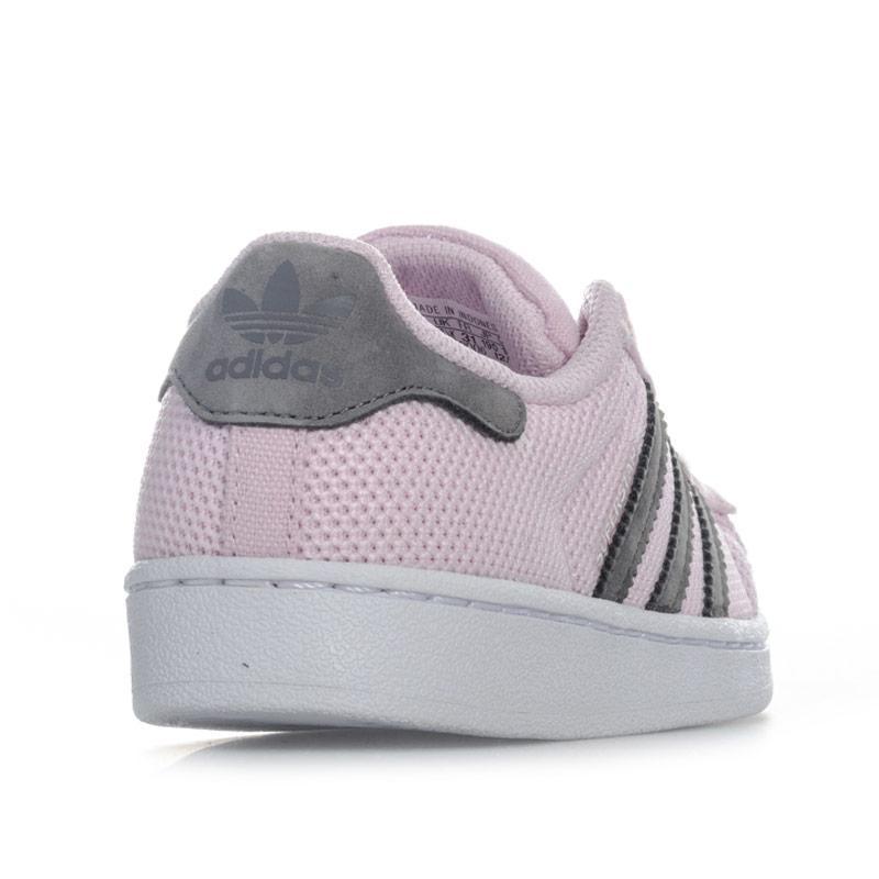 Adidas Originals Children Girls Superstar Trainers Pink