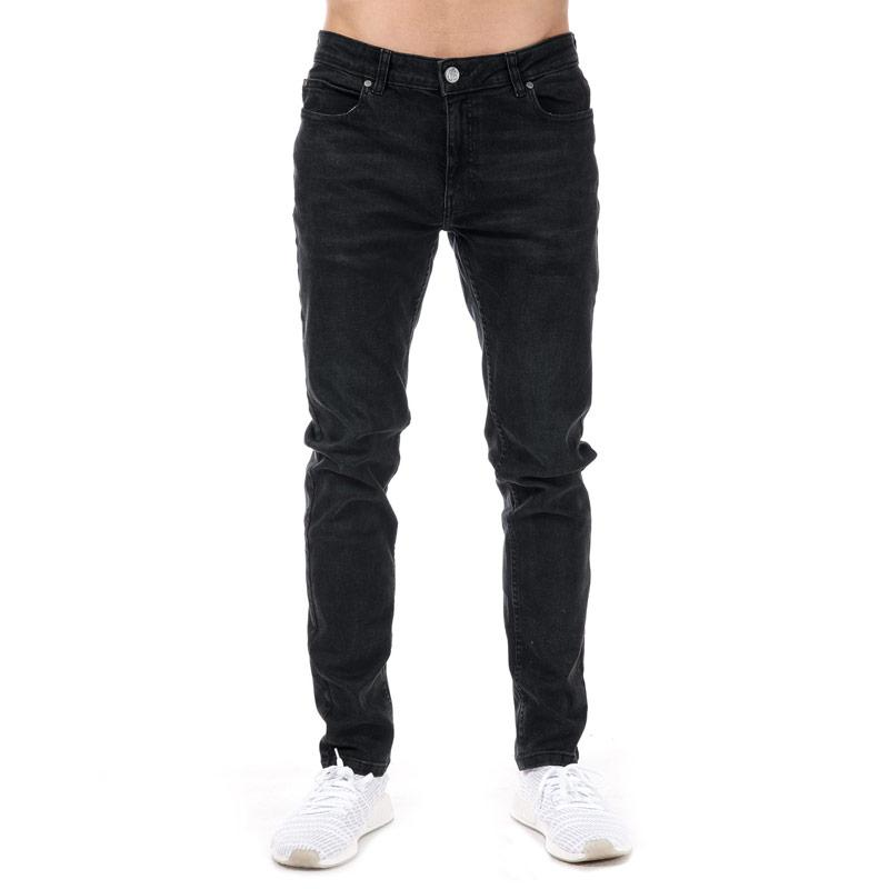 Crosshatch Black Label Mens Barrington Jeans Black