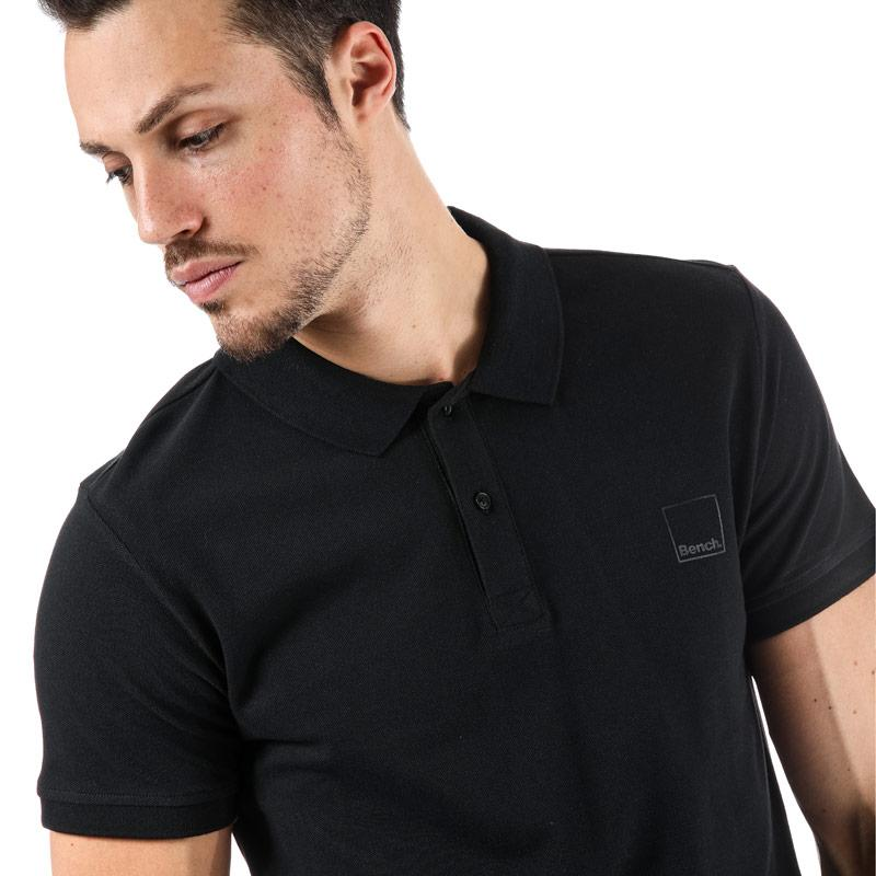 Bench Mens Classic Cotton Polo Shirt Black
