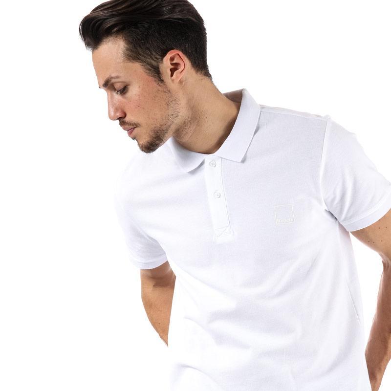 Bench Mens Classic Cotton Polo Shirt Khaki