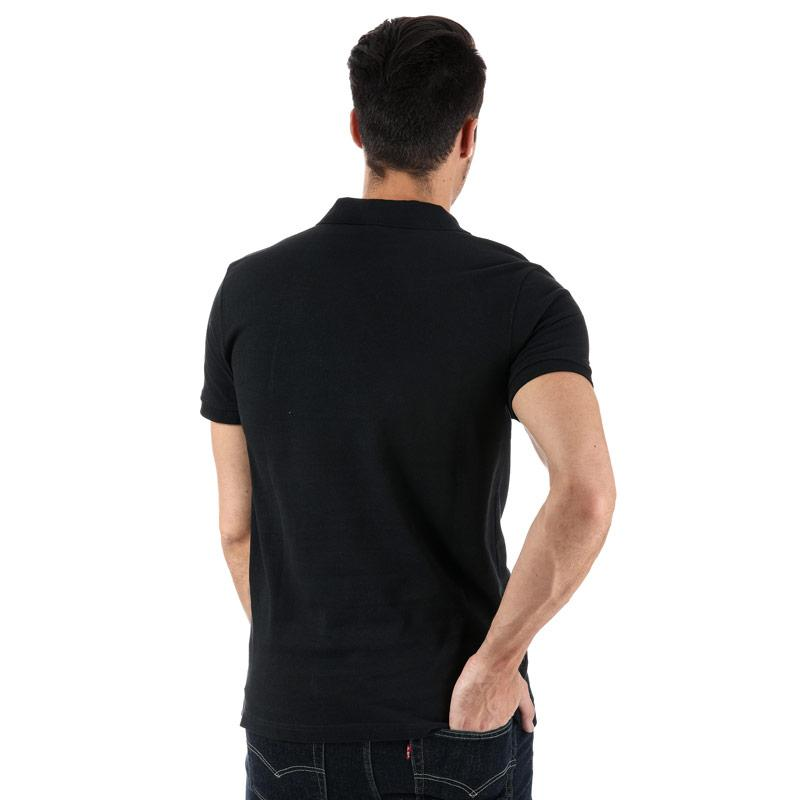 Bench Mens Classic Cotton Polo Shirt Black