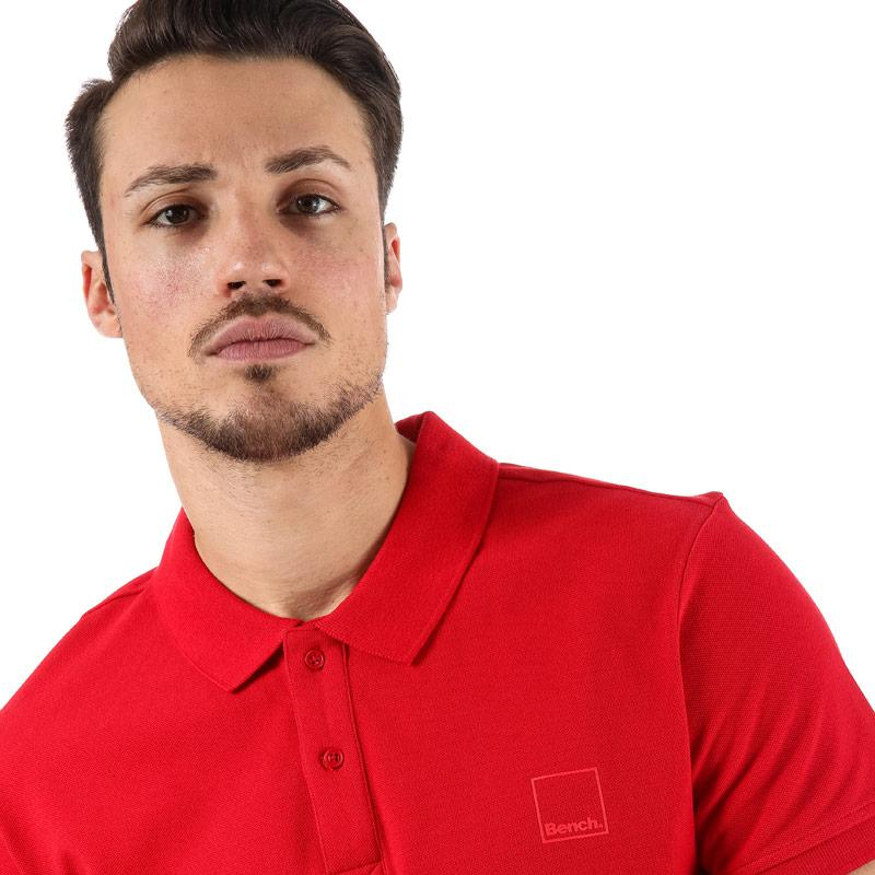 Bench Mens Classic Cotton Polo Shirt Red