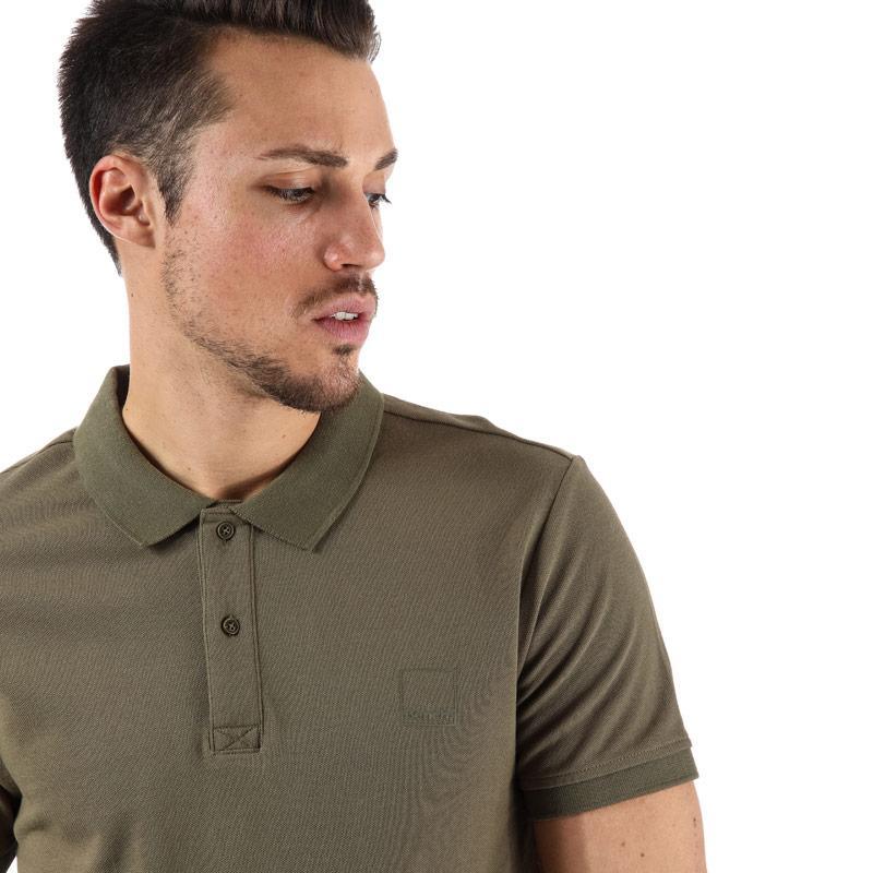 Bench Mens Classic Cotton Polo Shirt Navy