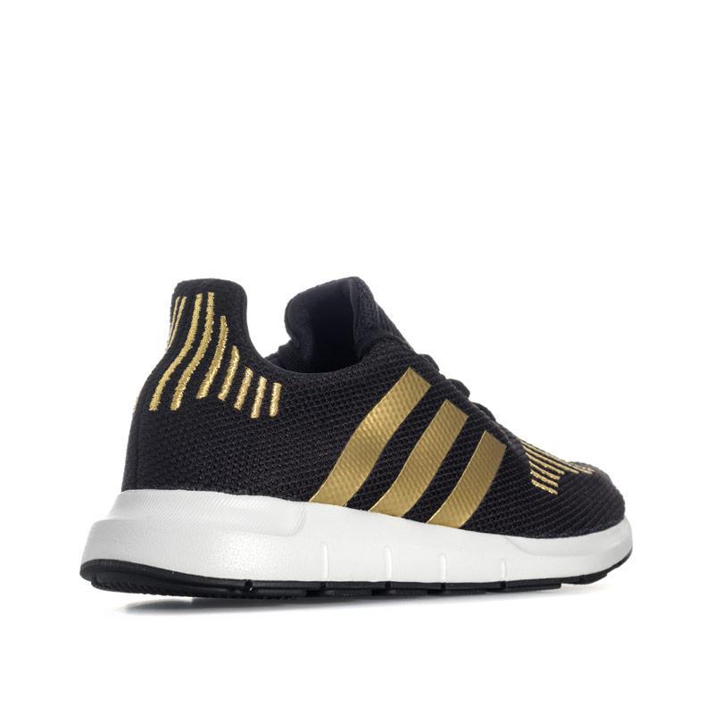 Adidas Originals Womens Swift Run Trainers Black Gold
