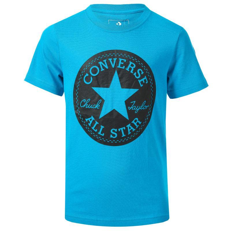 Tričko Converse Junior Boys Chuck Taylor Script T-Shirt Blue