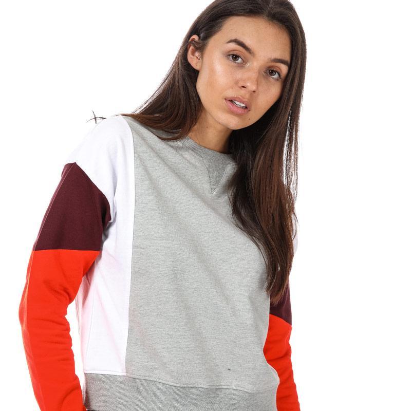 Mikina BLFD Womens Colourblock Crew Sweatshirt Multi colour