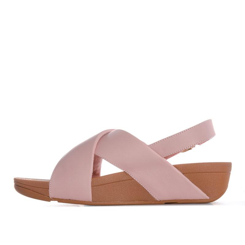 Boty Fit Flop Womens Lulu Cross Back Strap Leather Sandals Dusky Pink