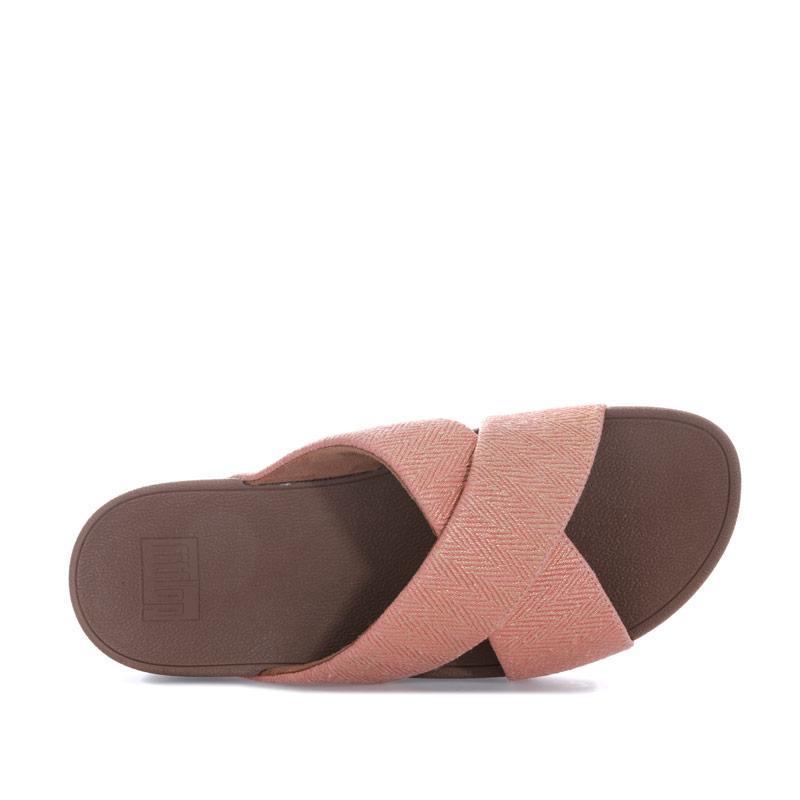 Boty Fit Flop Womens Lulu Mirage Cross Slide Sandals White