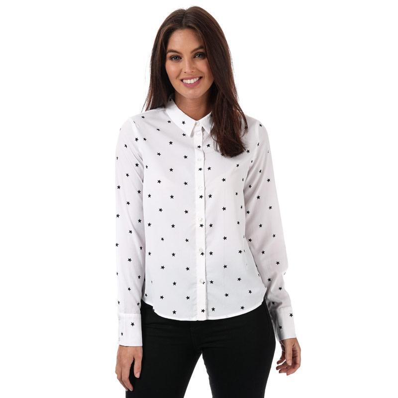 Vero Moda Womens Nicky Star Midi Shirt White