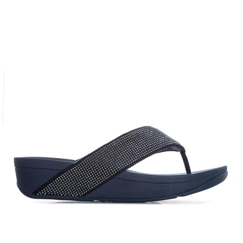 Boty Fit Flop Womens Ritzy Toe Thong Sandals Navy