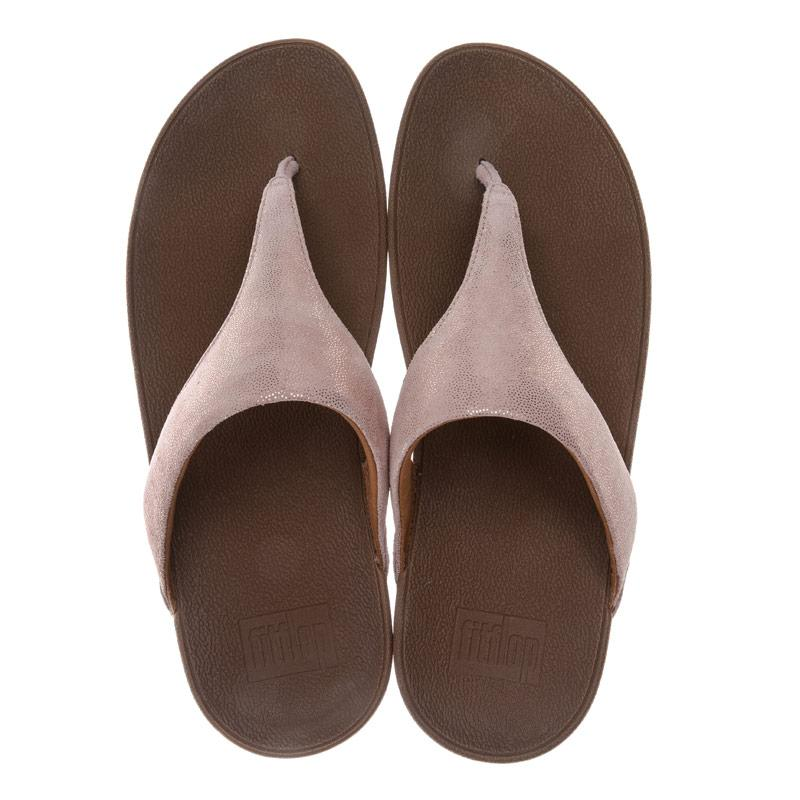 Boty Fit Flop Womens Shimmy Suede Toe Thong Sandals Rose Gold