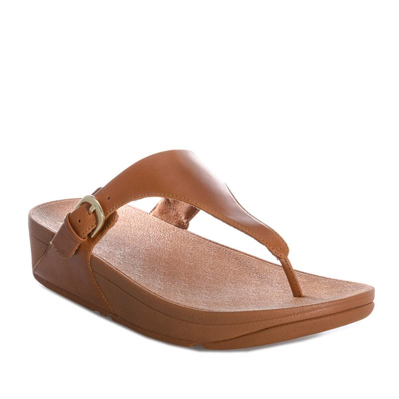 Boty Fit Flop Womens Skinny Leather Toe Thong Sandals Brown