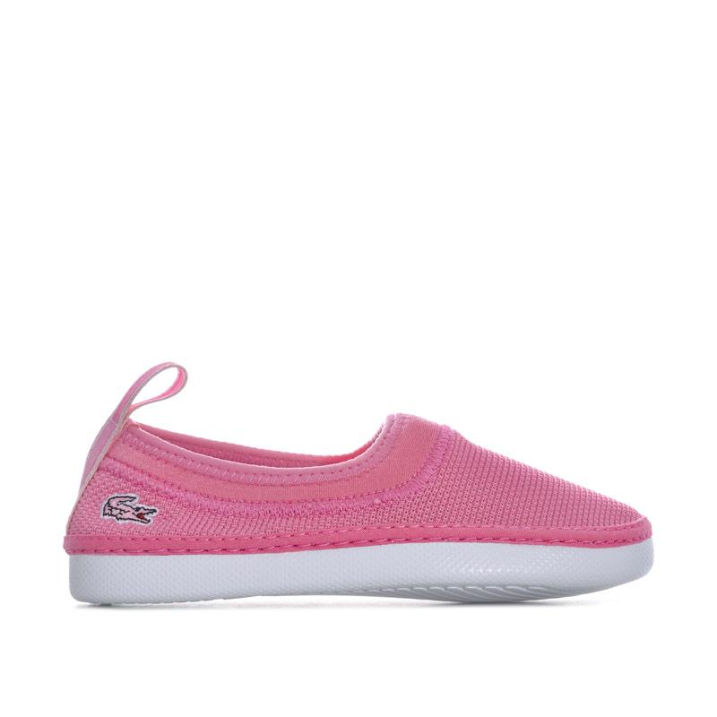Lacoste Children Girls L.ydro 118 Slip on Espadrille Pink
