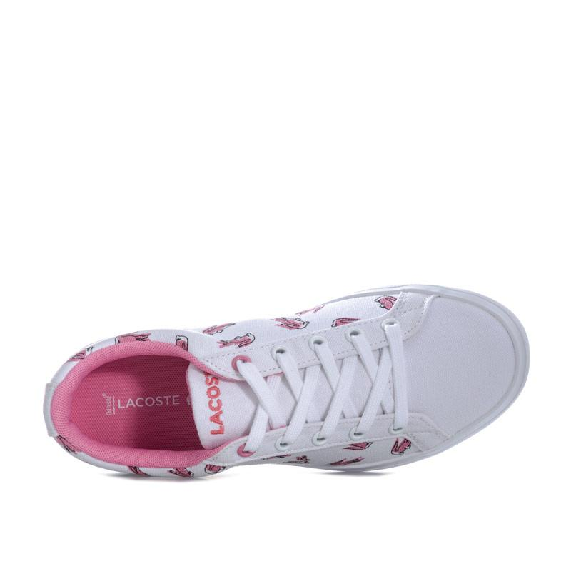 Lacoste Childrens Girls Lerond 218 2 Trainers White