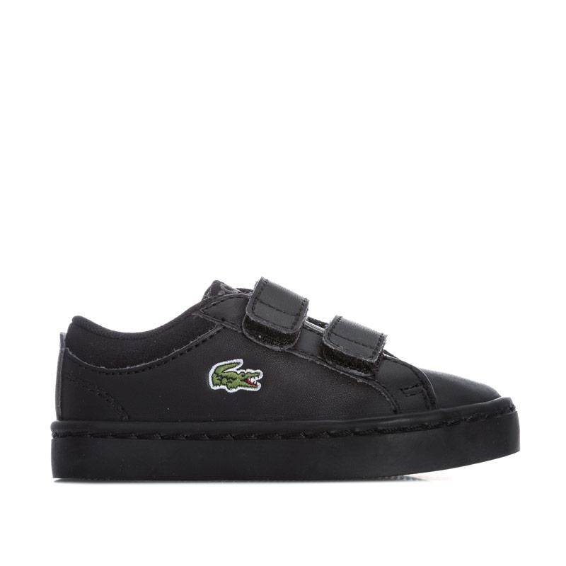 Boty Lacoste Infant Boys Straightset Trainers Black