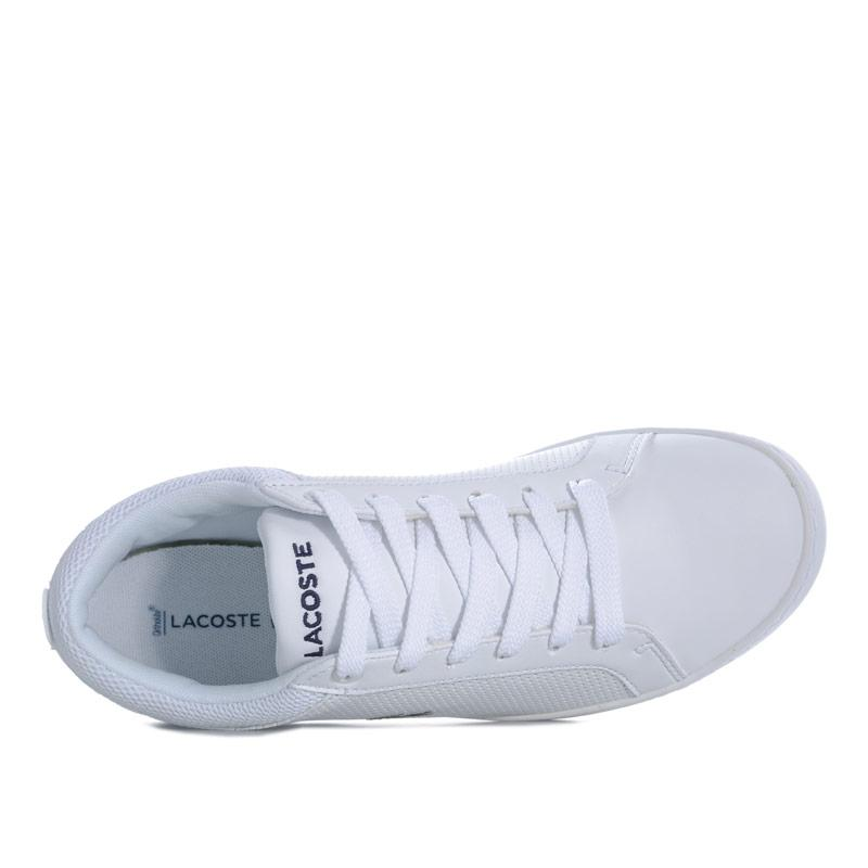 Boty Lacoste Junior Boys Straight Set 118 Trainers White