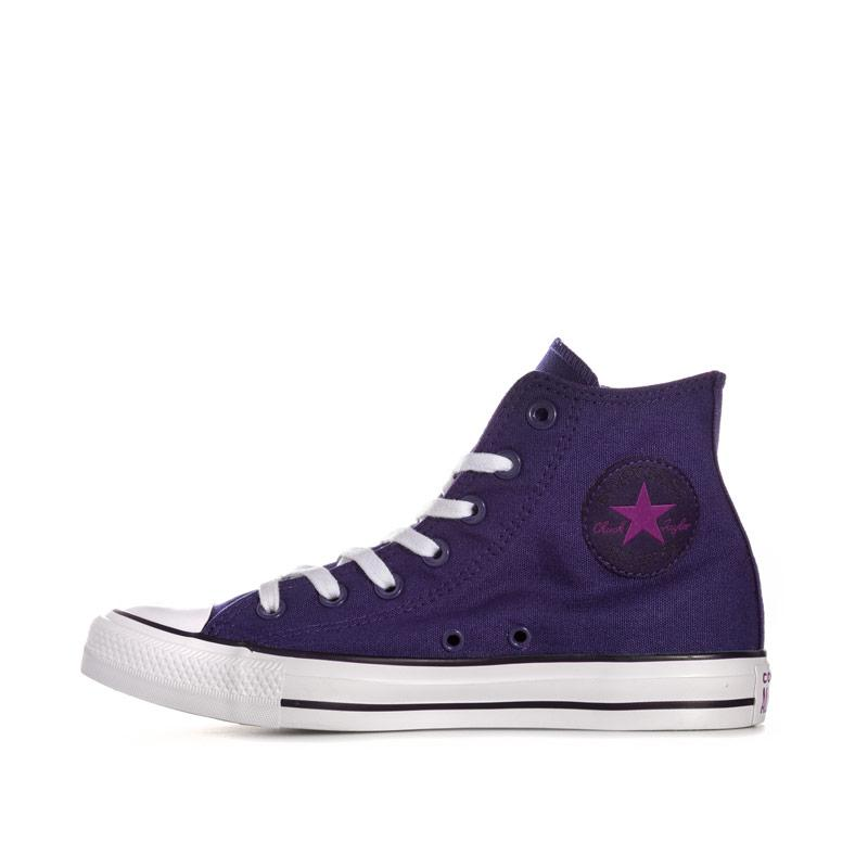 Obuv Converse Womens Chuck Taylor All Star Hi Trainers Purple