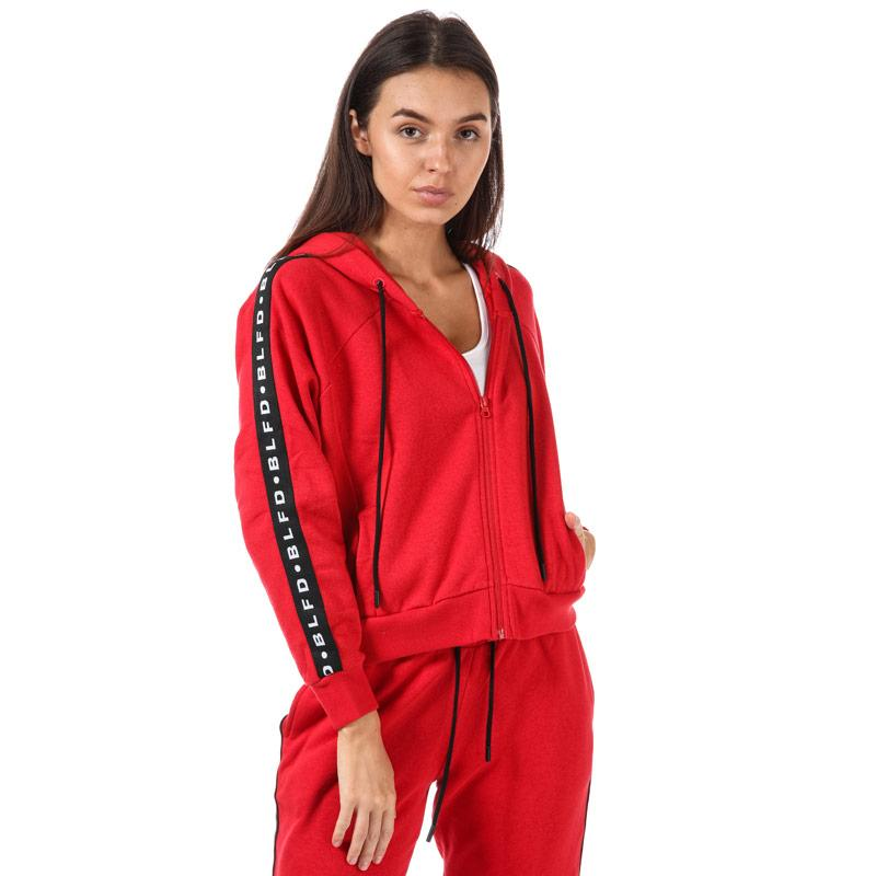 Mikina s kapucí BLFD Womens Cropped Zip Hoody Red