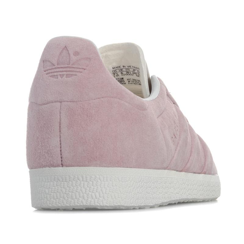 Adidas Originals Womens Gazelle Stitch And Turn Trainers Pink