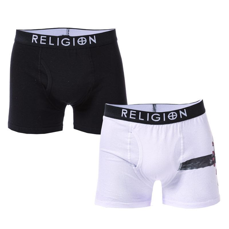 Spodní prádlo Religion Mens Dylan 2 Pack Boxer Shorts White