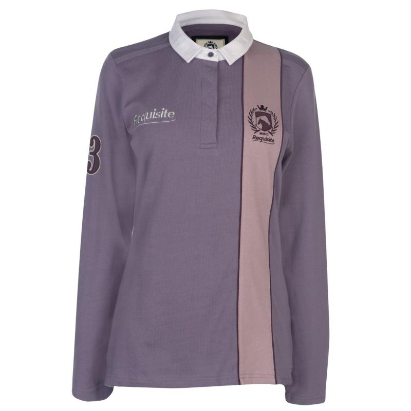 Tričko Requisite Long Sleeve Polo Heather