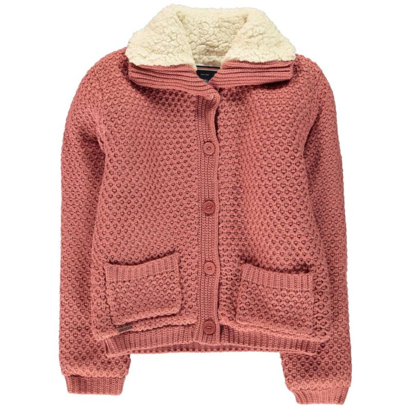 SoulCal Funnel Lined Knit Junior Girls Ecru