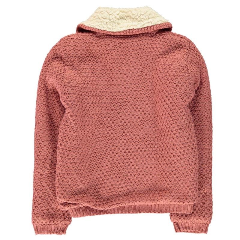 SoulCal Funnel Lined Knit Junior Girls Pink