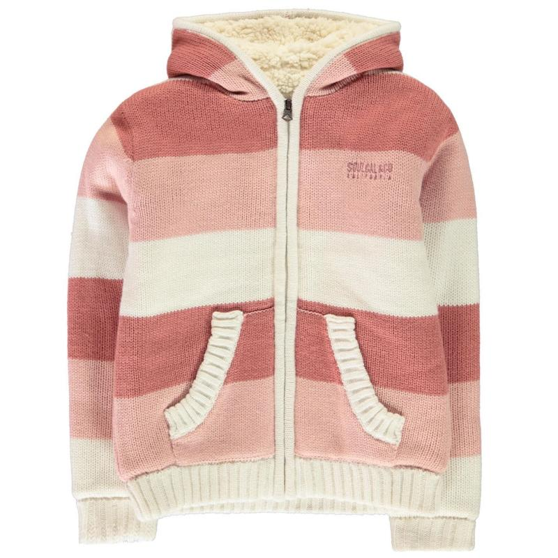 SoulCal Stripe Lined Knit Junior Girls Pinks
