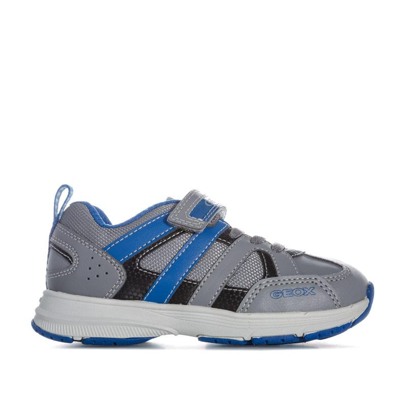 Boty Geox Junior Boys Top Fly Trainers Grey blue