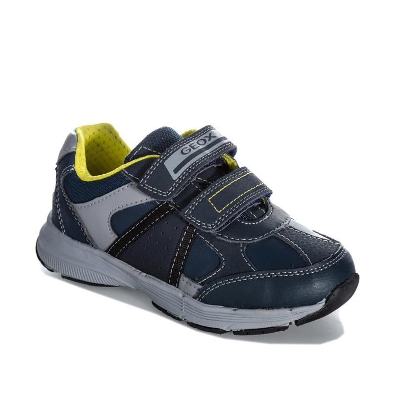 Boty Geox Junior Boys Top Fly Trainers Navy