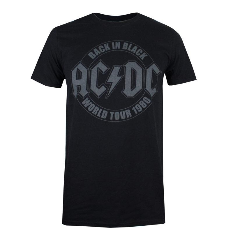 Tričko Get The Label Mens ACDC Tour Emblem T-Shirt Black