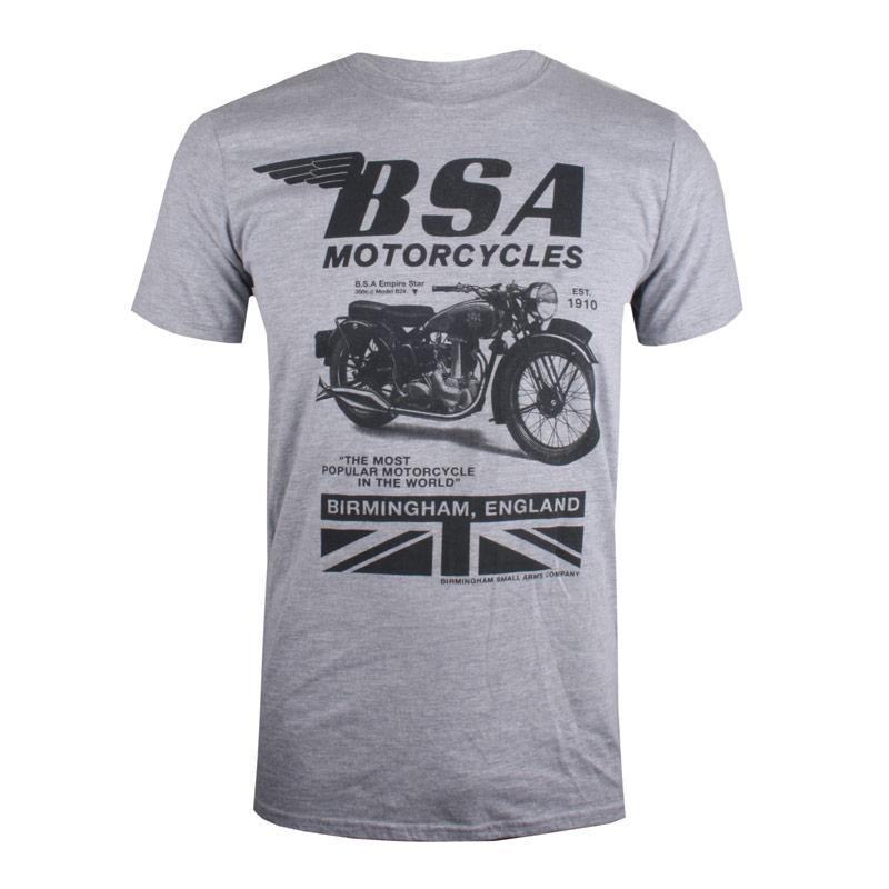 Tričko Get The Label Mens BSA Tonal Invert T-Shirt Grey Marl