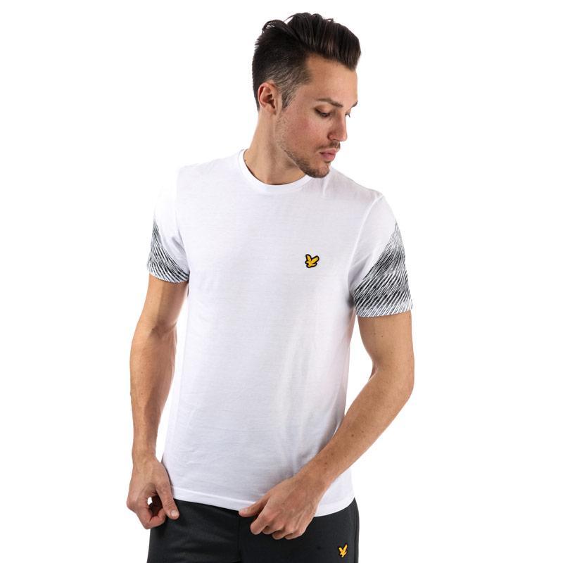 Tričko Lyle And Scott Sport Mens Whitfell Graphic T-Shirt White