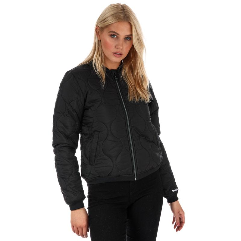 Bench Womens Core Baseball Jacket Black