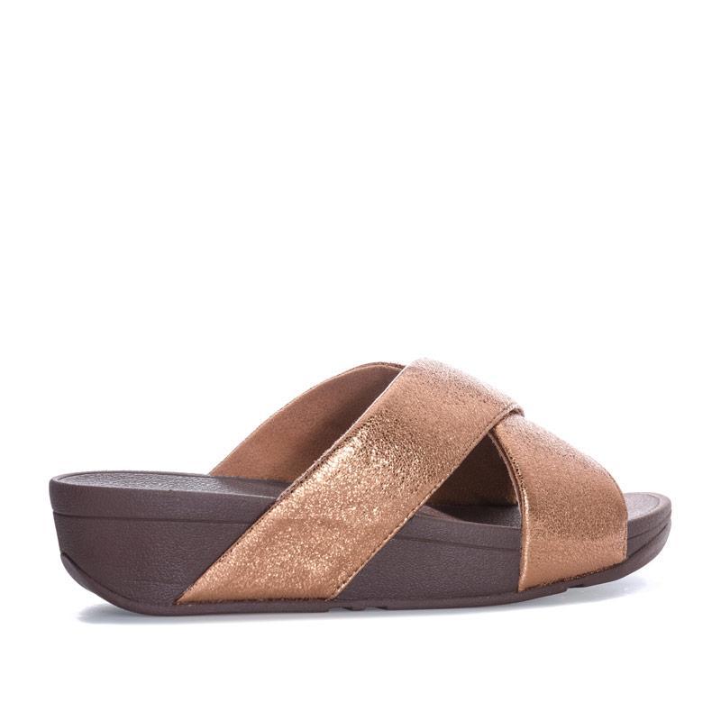 Boty Fit Flop Womens Lulu Molten Metal Slide Sandals Gunmetal