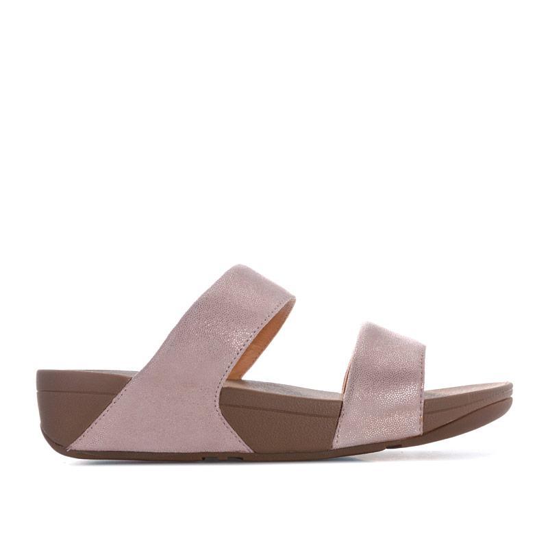 Boty Fit Flop Womens Shimmy Suede Slide Sandals Rose Gold