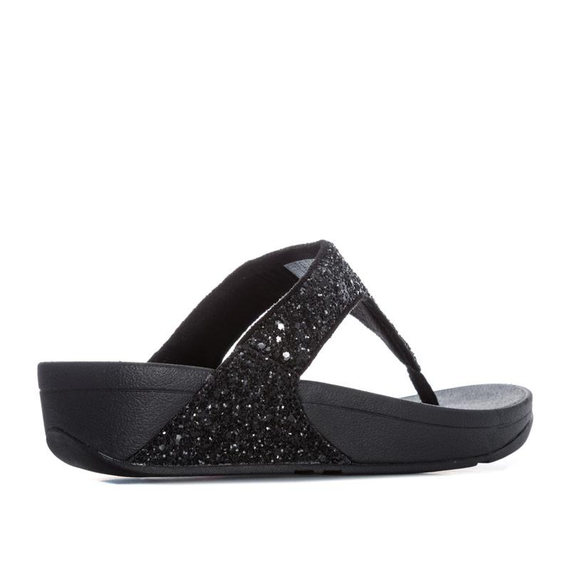Boty Fit Flop Womens Glitterball Toe Thong Sandals Black