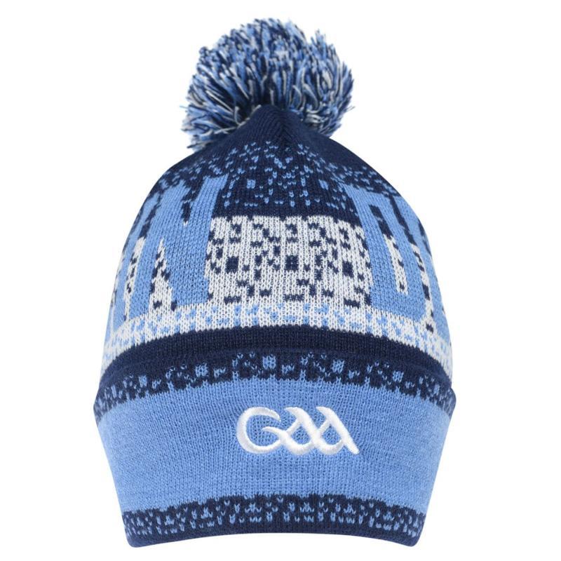 Dublin GAA Bobble Hat Navy/Sky/Mel