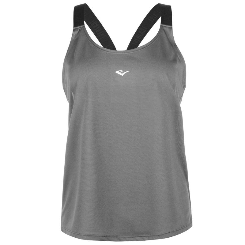 Everlast Jacquard Tank Top Ladies Charcoal
