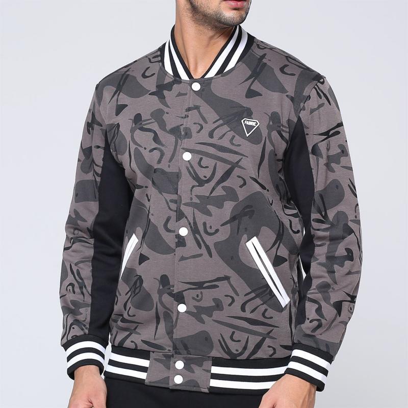 Fabric Camo Bomber Jacket Mens Camo