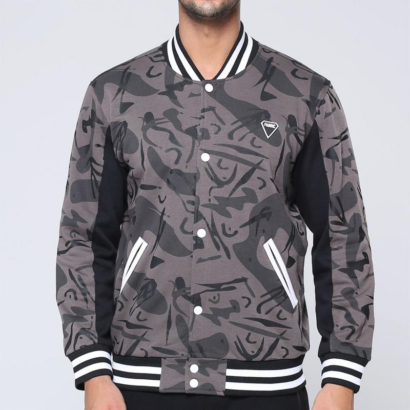 Fabric Camo Bomber Jacket Mens Camo