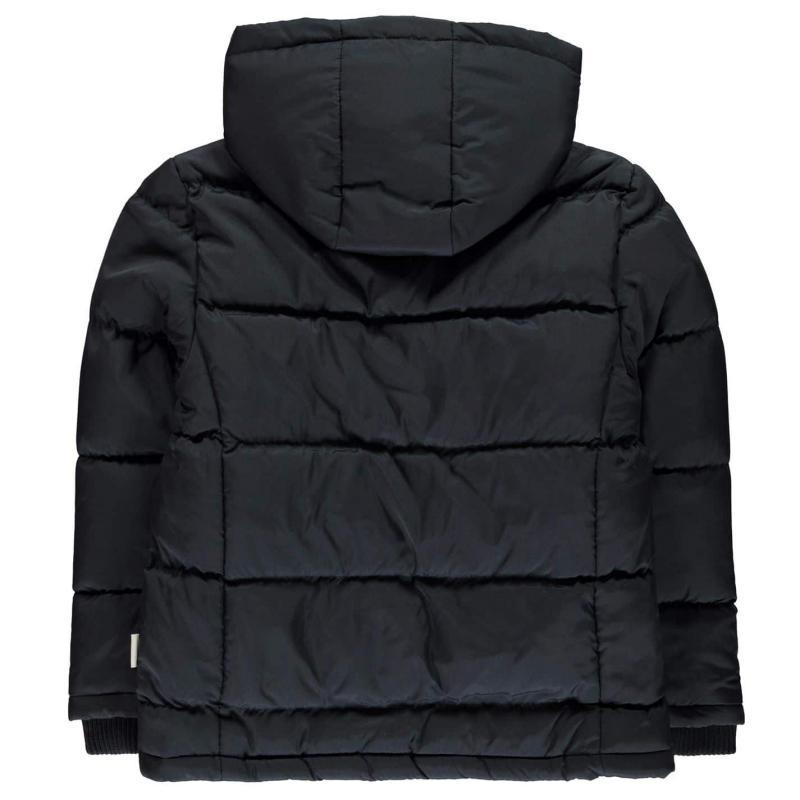 Bunda Lee Cooper 2 Zip Bubble Coat Junior Boys Navy