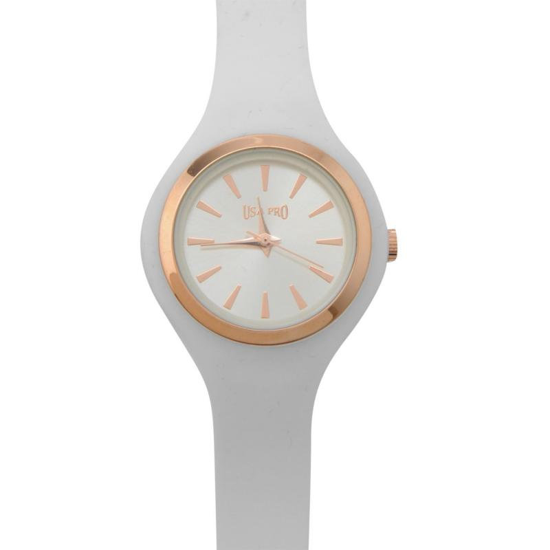 USA Pro Silicon Watch Ladies White
