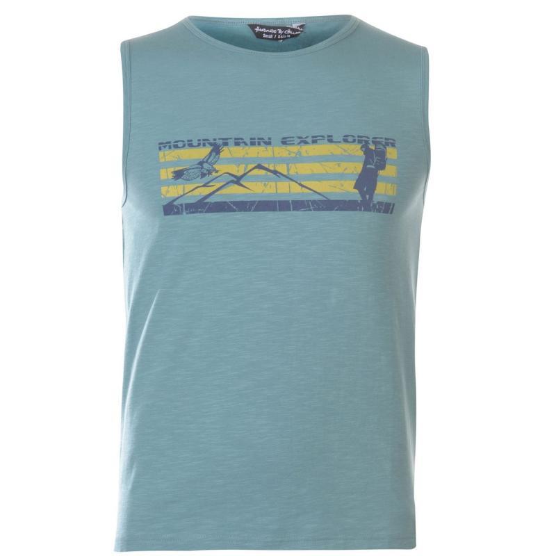 Tričko Chillaz Mountain Tank Top Mens Blue